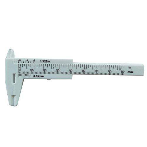 Vosarea 80mm Mini Kunststoff Schiebemechanismus Bremssattel-Glas Knopf Maß der Größe der Schmuck für Maßnahme Werkzeug (weiß)