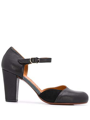 Chie Mihara Zapatos de tacón UNELU en Piel, Puntera Redonda, Cierre con Correa en el Tobillo. Talla: 39 EU