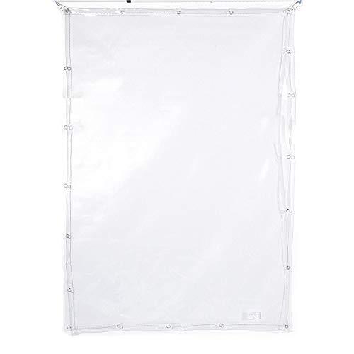 Lonas Vela De Sombra Cortina Impermeable 0,5 Mm De Espesor, Pvc Ventana Espesar Plástico Suave Tela Impermeable A Prueba De Viento Al Aire, Paño Impermeable, Puede Cubrir Coches(2*2m(6.6*6.6ft))