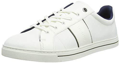 Ted Baker Herren MFK-EPPROD-Textile Mix Trainer Sneaker, Weiß (White White), 41 EU