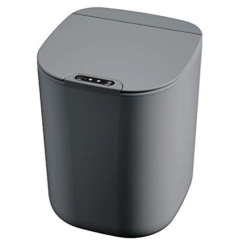 Monland Bote de Basura Inteligente de 16L, Cubo de Basura con Sensor de Basura EléCtrico de InduccióN AutomáTica para Cocina, BaaO, Recargable, Gris