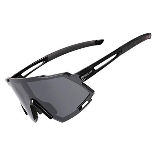 Abaodam 1 gafas de sol deportivas de moda ligeras de conducción con clip de pesca en gafas de sol (negro)