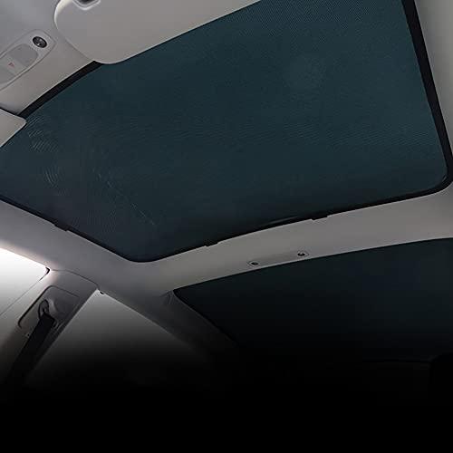 JTAccord Cortina de la Cortina de la claraboya de la Cortina para los Accesorios del Coche del Modelo 3 de Tesla, Material plástico, Cinta Lateral Doble, Tan fácil de Instalar