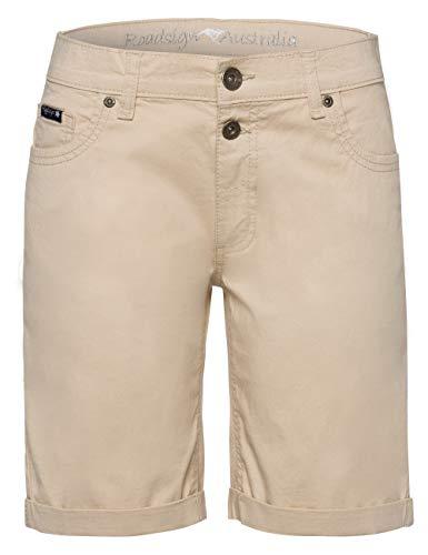 ROADSIGN Australia Damen Bermuda Shorts | Kurze Hose im Jeans-Style | Sand, 36