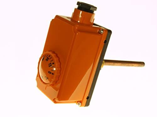 THERMIS Tauchthermostat mit Gehäuse THS Regler 0-90°C Tauchhüle 100 mm Regelthermostat - Thermostat 0°C bis 90°C Temperaturregler
