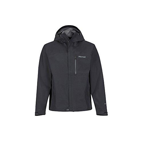 Marmot Men's Minimalist Lightweight Waterproof Rain Jacket, GORE-TEX with Paclite Technology, Black, Large