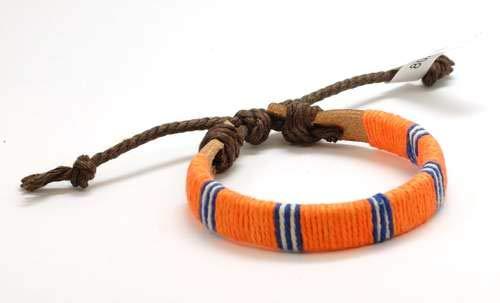 FJ257 - The Olivia Collection Bracelet en Cuir et Textile 17,5cm