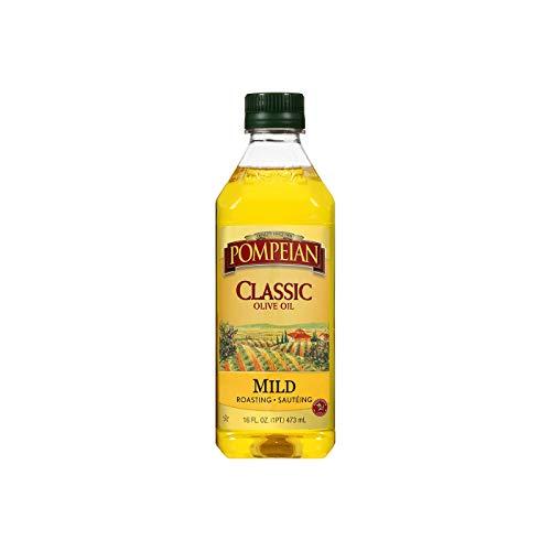 Pompeian Classic Olive Oil, Mild Flavor, Perfect for Roasting and Sauteing, Naturally Gluten Free, Non-Allergenic, Non-GMO, 16 FL. OZ., Single Bottle