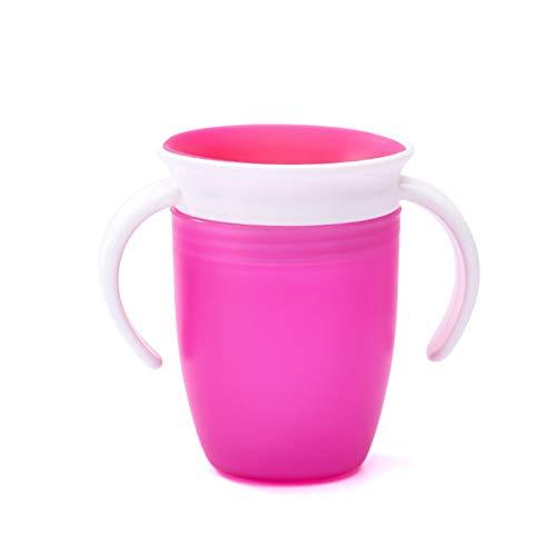 Tazza Per Bebè Con Manico, Tazza Per Allenatore Miracle 360˚ Senza BPA Tazza Per Bambini Che Impara A Prova Di Perdite Bere A Prova Di Versamento Beccuccio Morbido Tazza Da Allenamento Per Bambini