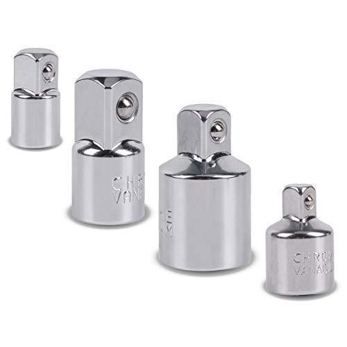 Juego de adaptadores de 4 piezas para destornillador inalámbrico, llaves de vaso y tuercas, adaptador de fuerza exterior 3/8 a 1/4-3/8 a 1/2-1/2 a 3/8 a 3/8 – 1/4 a 3/8…