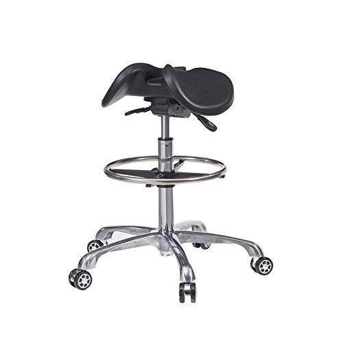 WANGXN Sattelhocker zur Linderung von Rückenschmerzen 360 ° -Rotation Höhenverstellbarer ergonomischer Hocker