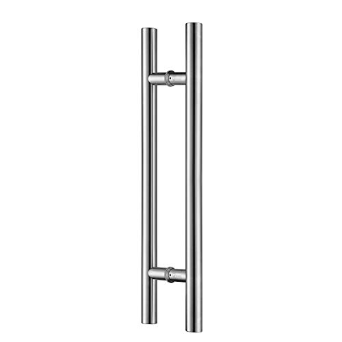 TOGU TG-6012 36 inches Solid Standoffs Heavy-duty Commercial Grade-304 Stainless Steel Push Pull Door Handle/Barn Door Pull Handle/ Glass Pulls , Full Brushed Stainless Steel Finish
