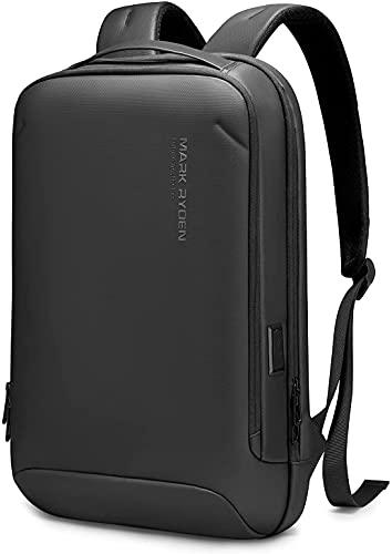 Mark Ryden Ultra Dünn Laptop Rucksack, 15,6 Zoll Anti Diebstahl Business Rucksack für Herren und Damen, fit für Arbeit, Tagesrucksack, Reisen, Radfahren