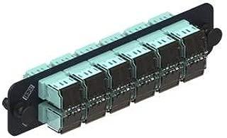 Commscope Fiber Adapter Panel with 12 LazrSPEED MM Duplex LC Adapters, PNL-BK-024-MFA-LC02-BG-SHUT, 760028209