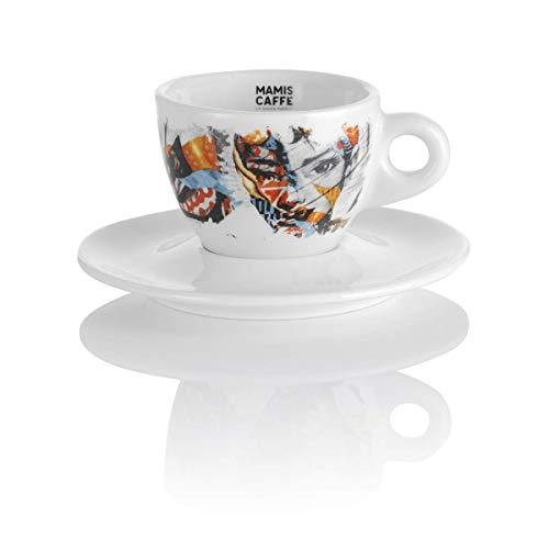 Mamis Caffè Aurora Cappuccino Porzellantasse mit Motiv weiß 140 ml
