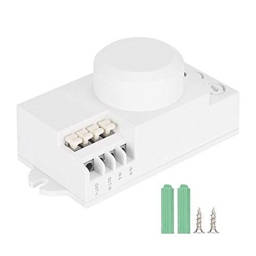 Interruttore automatico della luce di induzione, interruttore del rilevatore di movimento del corpo regolabile, interruttore della luce del sensore a microonde a 5,8 GHz per scale, corridoi, ascensori
