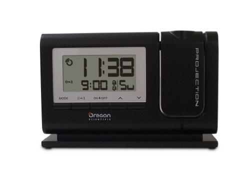 Oregon RM308P Funk Projektionsuhr DCF77 Signal Projektion von Zeit und Alarmstatus schwenkbarer Proj