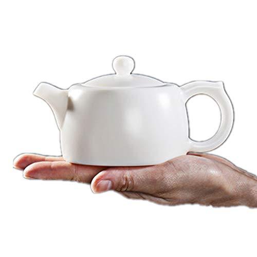 Dfghbn Tetera De Cerámica Blanco Tetera de la Porcelana de la Burbuja Burbuja Tetera Tetera de cerámica de la Tetera por Granel Té y bolsitas de té Tetera De Porcelana (Color : White, Size : 230ml)