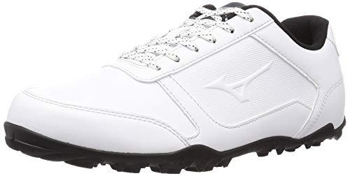 [ミズノ] ゴルフシューズ ワイドスタイル ライト スパイクレス 4E メンズ ホワイト×ブラック 26.5 cm