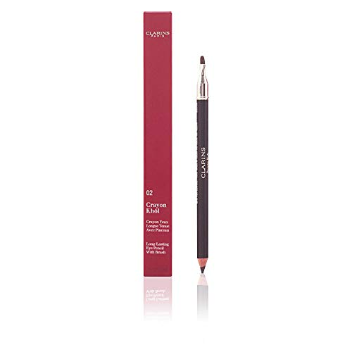 Clarins Long Lasting Eye Pencil with Brush No.07, Smoky Plum, 0.037 Ounce