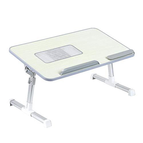 Escritorio portátil y una cama plegable bandeja portátil del ordenador portátil de escritorio bandeja de la cama plegable soporte ajustable del USB del ventilador de tabla for libros de estudio Gaming