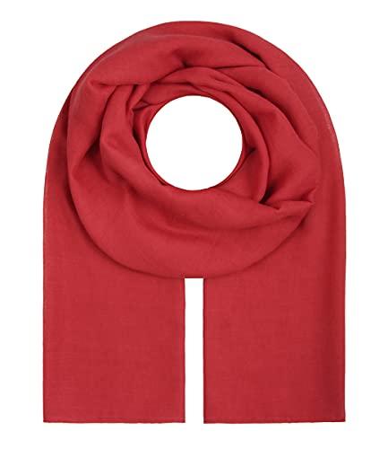 Majea Majea Tuch Aurora? großes Damen-Halstuch XXL Schal Damen Tuch Halstuch einfarbig uni unisex unifarben Schals und Tücher (rot)