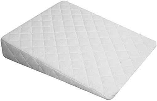Original Sleep Wedge Pillow 9-inch - Best Foam Bed Pillows - Snoring, Heartburn, Congestion Relief