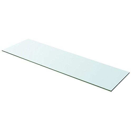 vidaXL 243846 Glasboden Glasscheibe Glasplatte für Glasregal Transparent 100 cm x 30 cm, Glas, Größe: 100 x 30 cm (L x B)