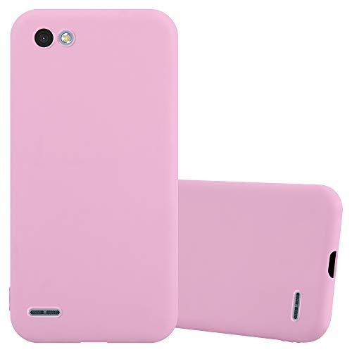 Cadorabo Funda para LG Q6 / G6 Mini en Candy Rosa - Cubierta Proteccíon de Silicona TPU Delgada e Flexible con Antichoque - Gel Case Cover Carcasa Ligera