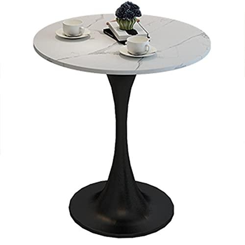 WUDAXIAN Tavolini da caffè, Piano Classico in Marmo Naturale, tavolino da Divano con Base in Metallo, Tavolo per Snack da Cocktail per Soggiorno ad Angolo