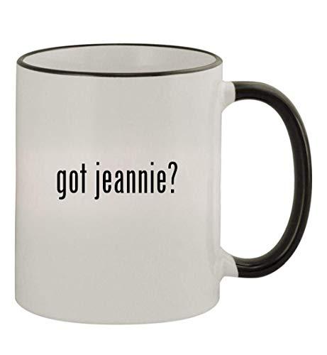 got jeannie? - 11oz Colored Handle and Rim Coffee Mug, Black