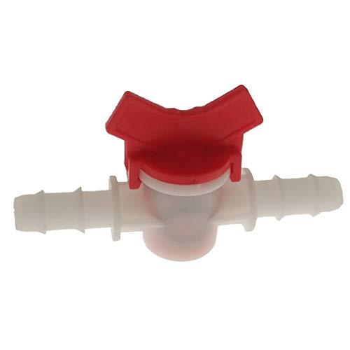 Aquarium Regelventil Wasser Durchflussregler Hebelventil für 4mm/8mm/10mm/12mm Wasserschlauch - rot, 10mm