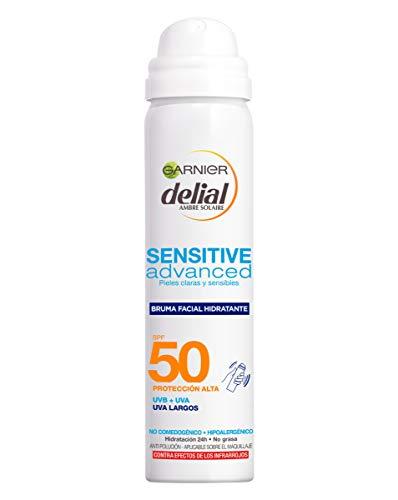Garnier Delial Sensitive Advanced - Bruma Facial Hidratante Protector Solar IP50+ - 75 ml