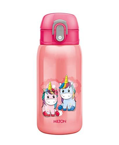 Milton Jolly 375 Thermosteel Kids Water Bottle, 300 ml, Pink