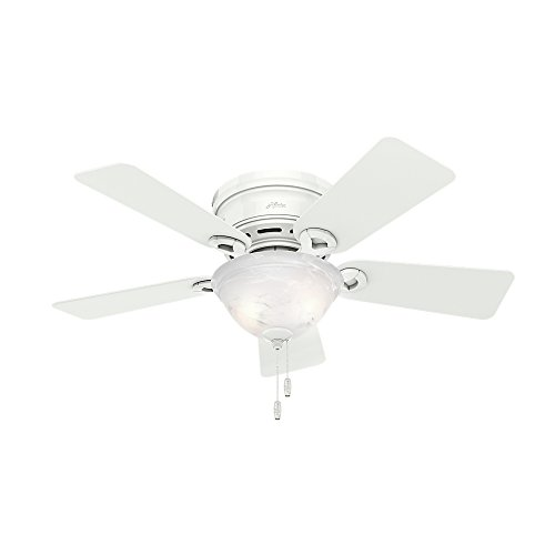 Hunter Fan Company 51022 Hunter Conroy Indoor Low Profile ceiling Fan with LED Light and Pull Chain...