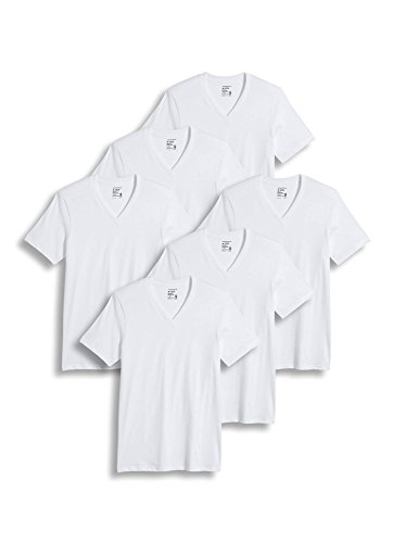 Jockey Men's T-Shirts Big & Tall Classic V-Neck T-Shirt - 6 Pack, Diamond White, XLT