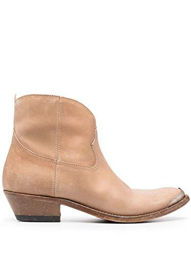 Moda De Lujo | Golden Goose Mujer GWF00131F00088255398 Beige Cuero Botines | Ss21