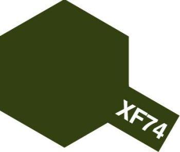 タミヤ アクリルミニ(つや消し) XF74 OD色(陸上自衛隊)