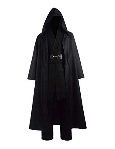 Zhangjianwangluokeji Jedi Knight Anakin Luke Skywalker Kostüm Cosplay Mantel Cosplay Kostüm Halloween Robe Outfit Anzug Mantel (M, Style 3)