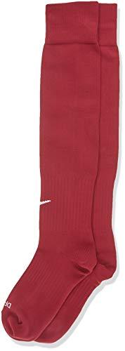 Unisex Nike Classic II Cushion Over-the-Calf Football Sock, Maroon/White, Large