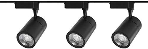 EFXPRR Lámpara De Techo LED Proyectores Tipo Riel Se Pueden Girar 3 Luces, Lámparas Iluminación Decorativas, para Tiendas Ropa Cafeterías Bares Transparentes Joyerías Luz Blanca 3.54×5.12in