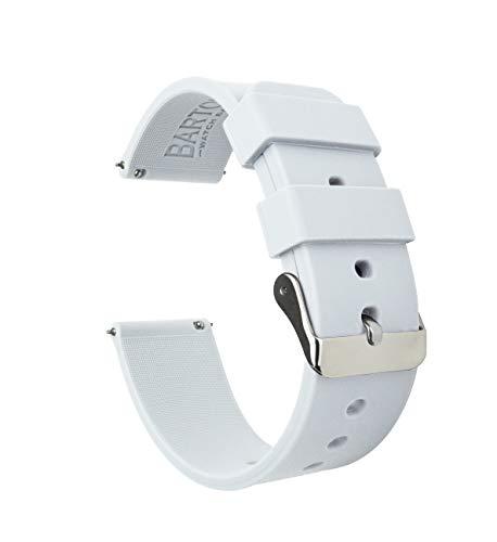 Barton Silicone Quick Release - Las Correas de Reloj de Goma Ligera de 18mm Blanco