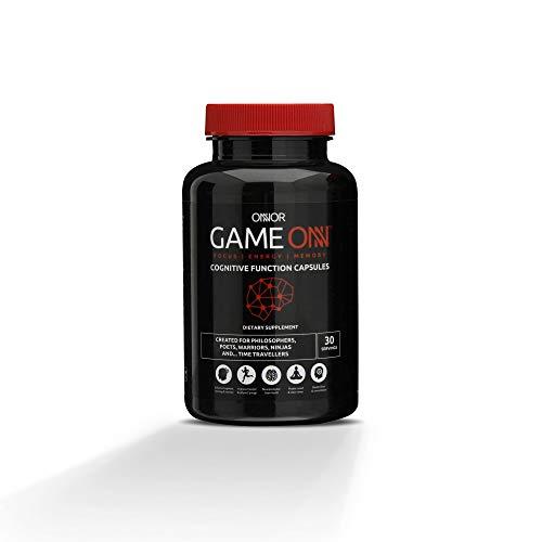 ONNOR Game ONN Advanced Natural Nootropic Brain Supplement, 90 Vegan Capsules, Cognitive Enhancer, Boost Energy, Focus & Mental Performance | L-Tyrosine, Huperzine, Lion's Mane, Alpha GPC, Caffeine
