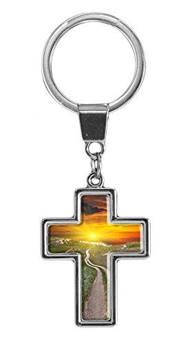 metALUm | Schlüsselanhänger Christlich Kreuz Metall Weg 665013006