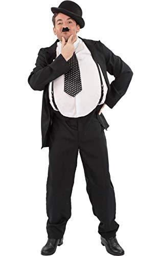 ORION COSTUMES Costume de déguisement du mime des films muets Oliver Hardy avec des bretelles pour hommes