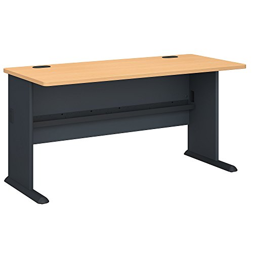 Bush Business Furniture Series A 60W Desk in Beech and Slate