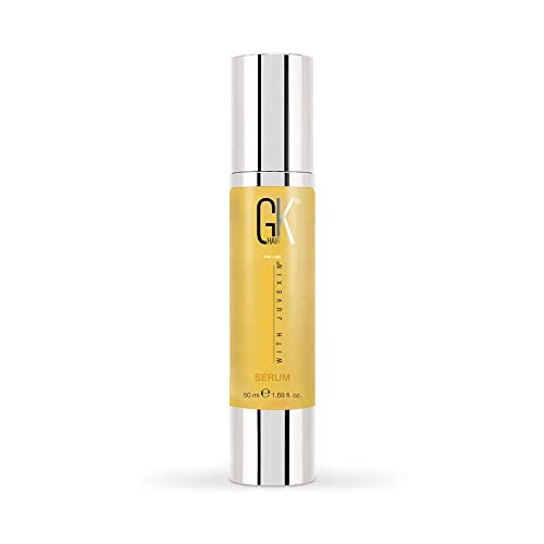GK HAIR Global Keratin Sérum capillaire antifrisottis à l'huile d'argan 100% biologique 50ml Lissage renforçant et Protection contre la chaleur Shine Frizz Control Dry Damage Hair Repair