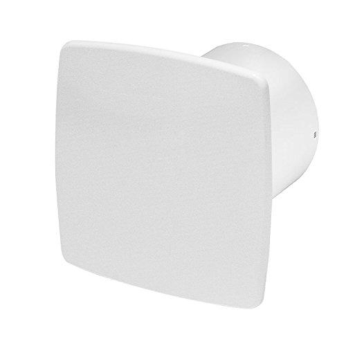 Badlüfter Wand-Ventilator Ø 100 mit Nachlauf , Kugellager Silent Nea - Line System+ weiß (weiß)