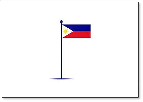 Kühlschrankmagnet, Motiv: Flagge Philippinen