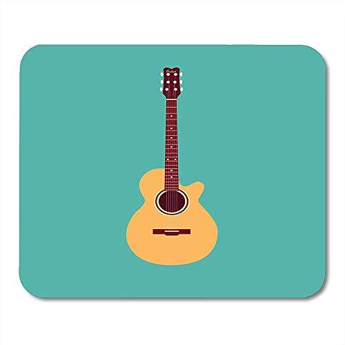 Muispads akoestische gitaar klassieke muziekinstrument collectie in plat voor uw muismat voor notebooks Computers